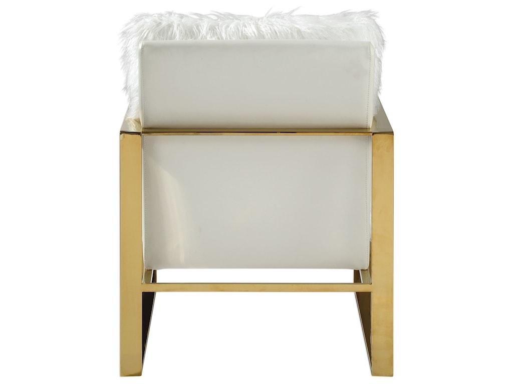 Uttermost Accent FurnitureDelphine White Accent Chair