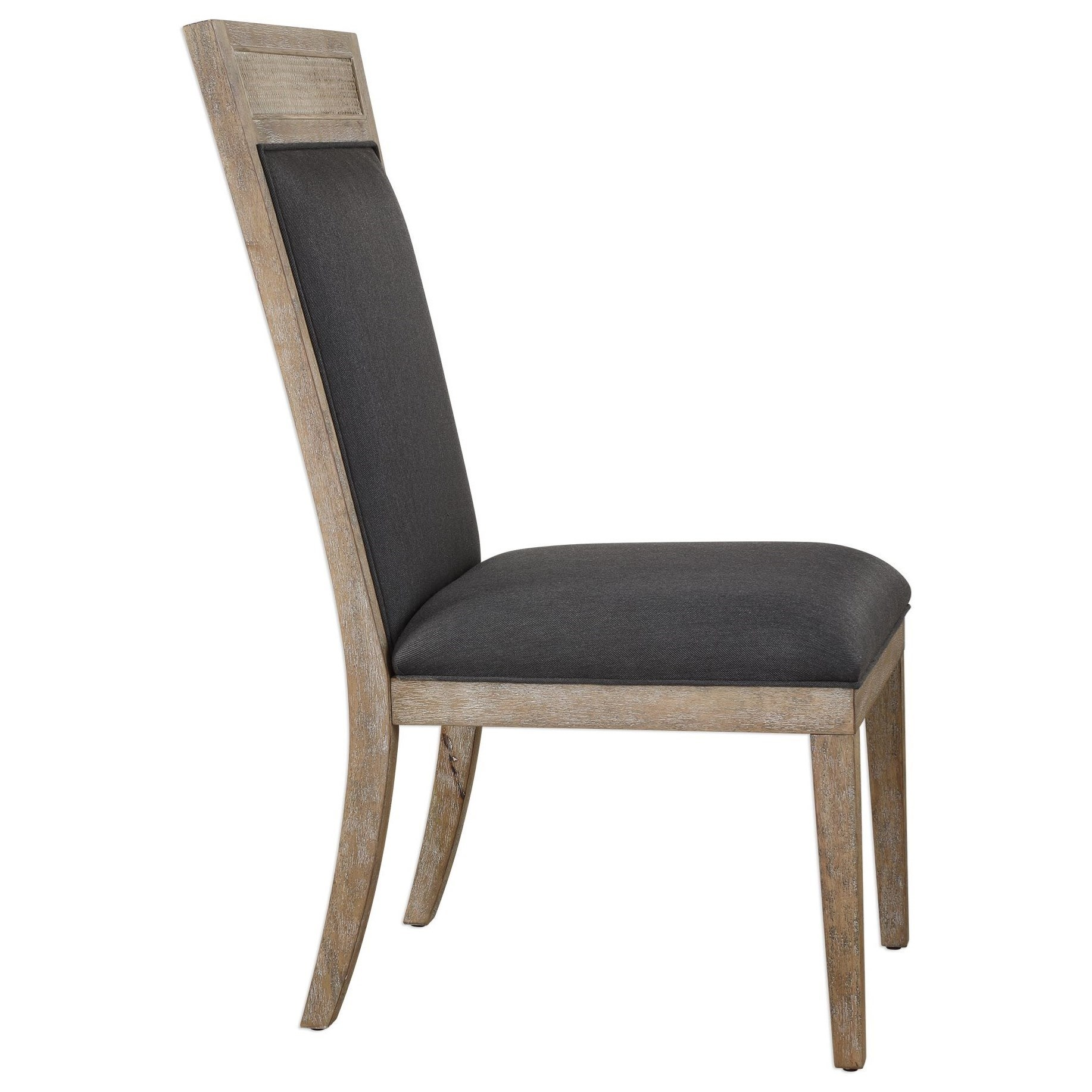 Accent Furniture Accent Chairs Encore Dark Gray Armless Chair