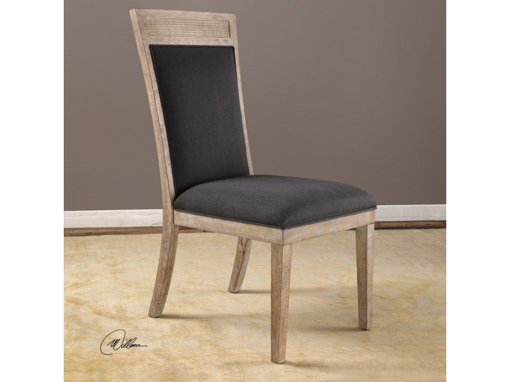 Uttermost Accent Furniture - Accent ChairsEncore Dark Gray Armless Chair