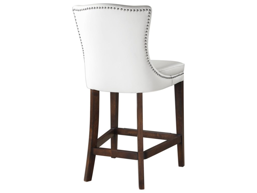Uttermost Accent Furniture - StoolsDariela White Counter Stool