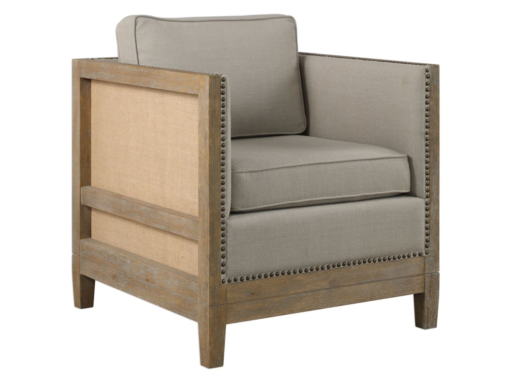 Uttermost Accent FurnitureKyle Weathered Oak Accent Chair
