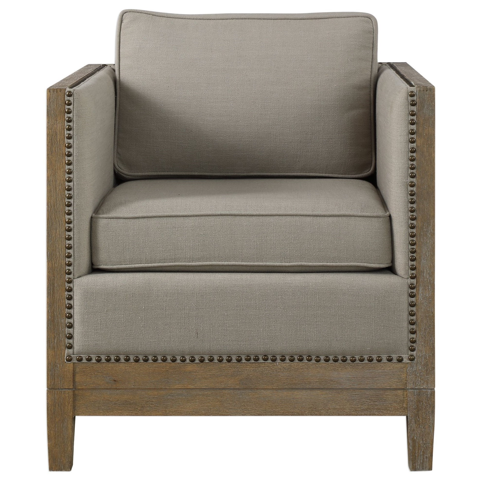Uttermost Accent FurnitureKyle Weathered Oak Accent Chair ...