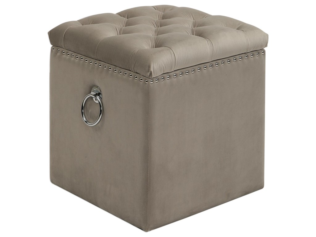 Uttermost Accent Furniture - OttomansTalullah Tufted Storage Ottoman
