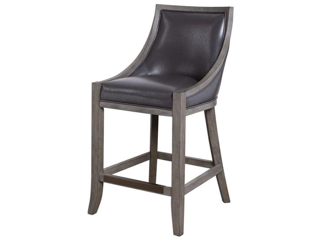 Uttermost Accent FurnitureElowen Leather Counter Stool