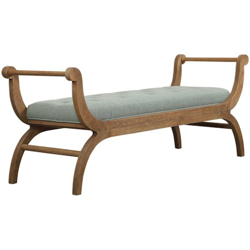 Uttermost Accent Furniture Allier Scroll Bench