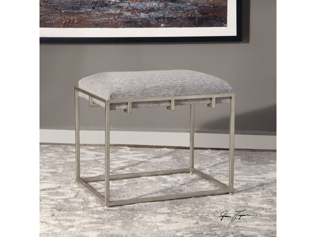 Uttermost Accent Furniture - BenchesEdie Silver Small Bench