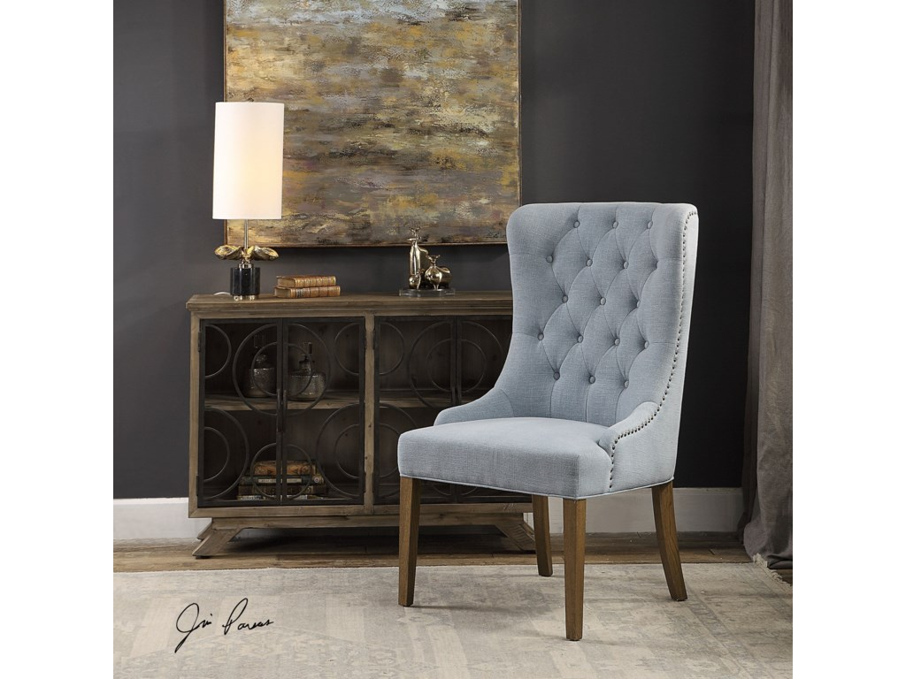 Uttermost Accent FurnitureRioni Tufted Wing Chair