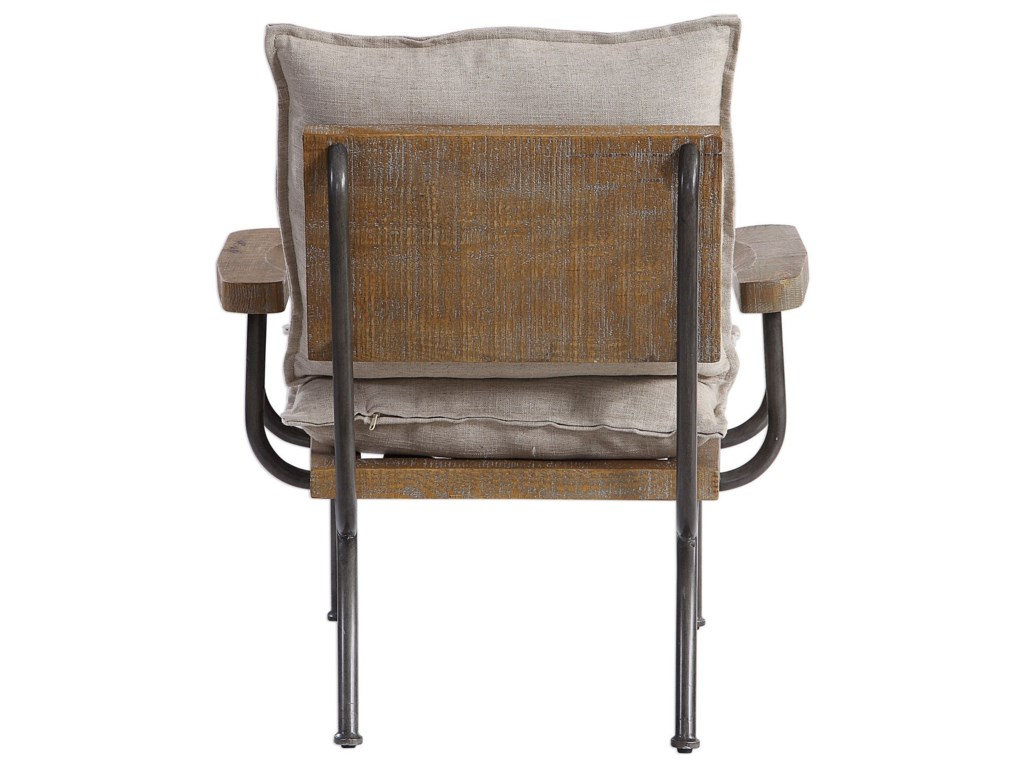 Uttermost Accent Furniture - Accent ChairsDeclan Industrial Accent Chair