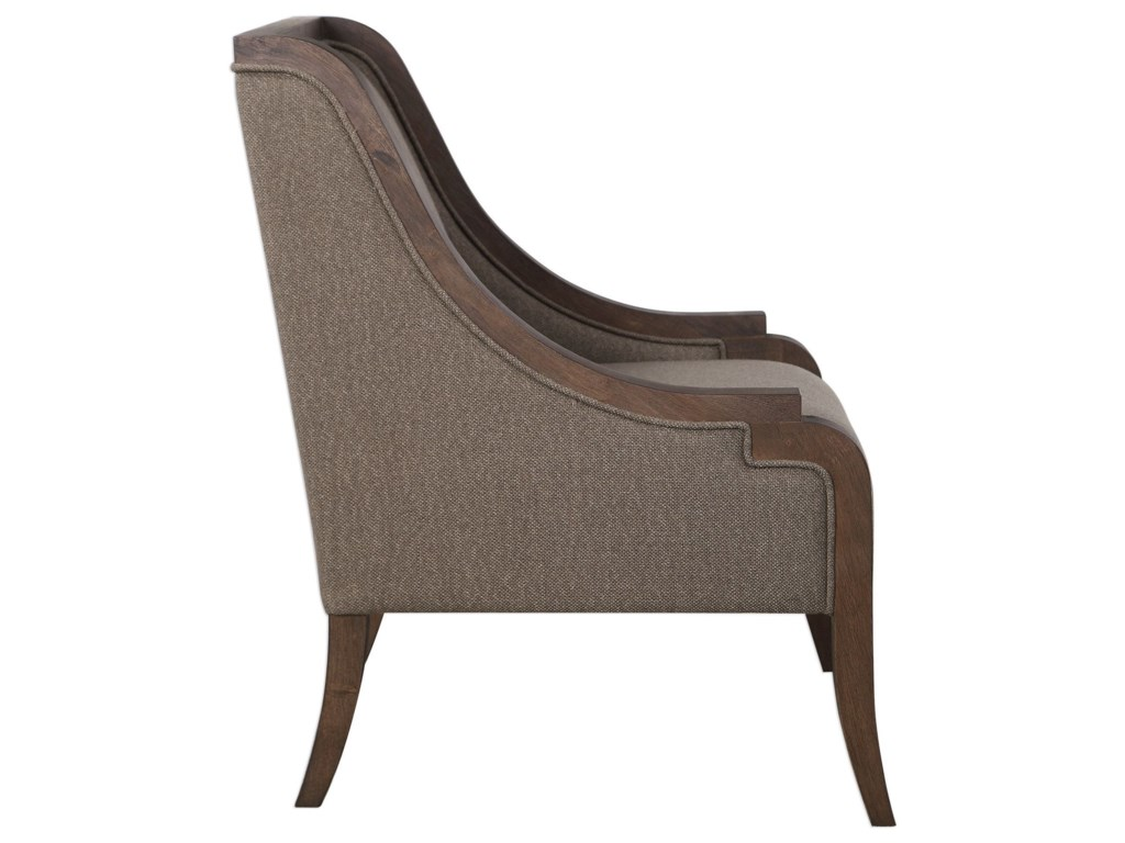 Uttermost Accent Furniture - Accent ChairsVaughn Walnut Accent Chair
