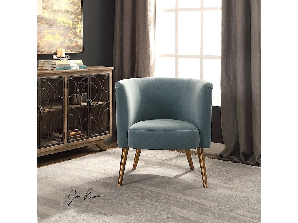 Uttermost Accent FurnitureHaider Gray Accent Chair