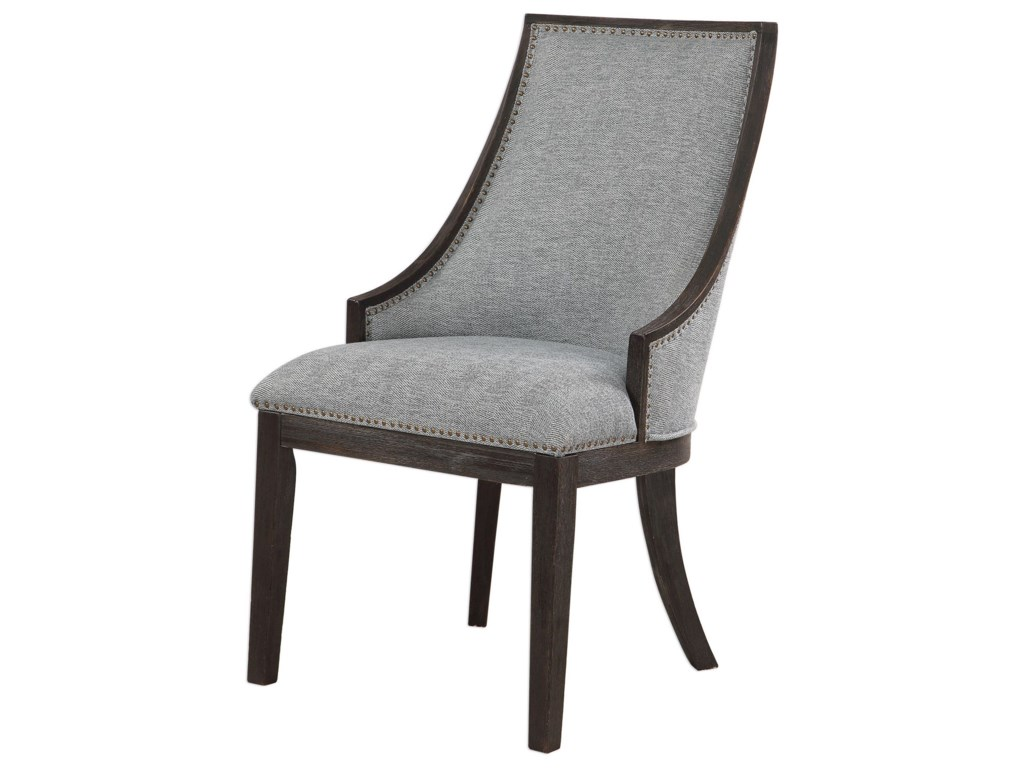 Uttermost Accent Furniture - Accent ChairsJanis Ebony Accent Chair