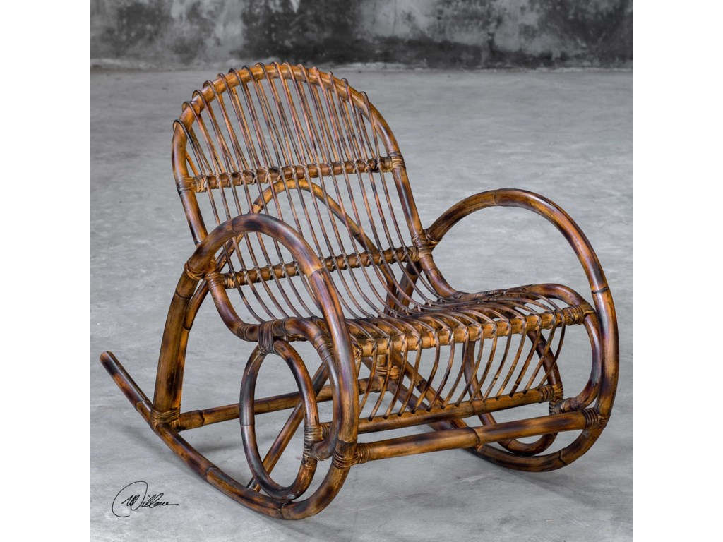 Uttermost Accent FurnitureArlo Rattan Rocking Chair