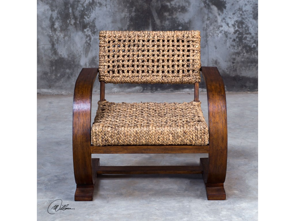 Uttermost Accent Furniture - Accent ChairsRehema Natural Woven Accent Chair