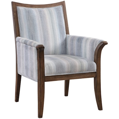 Uttermost Accent Furniture Safiya Coastal Accent Chair