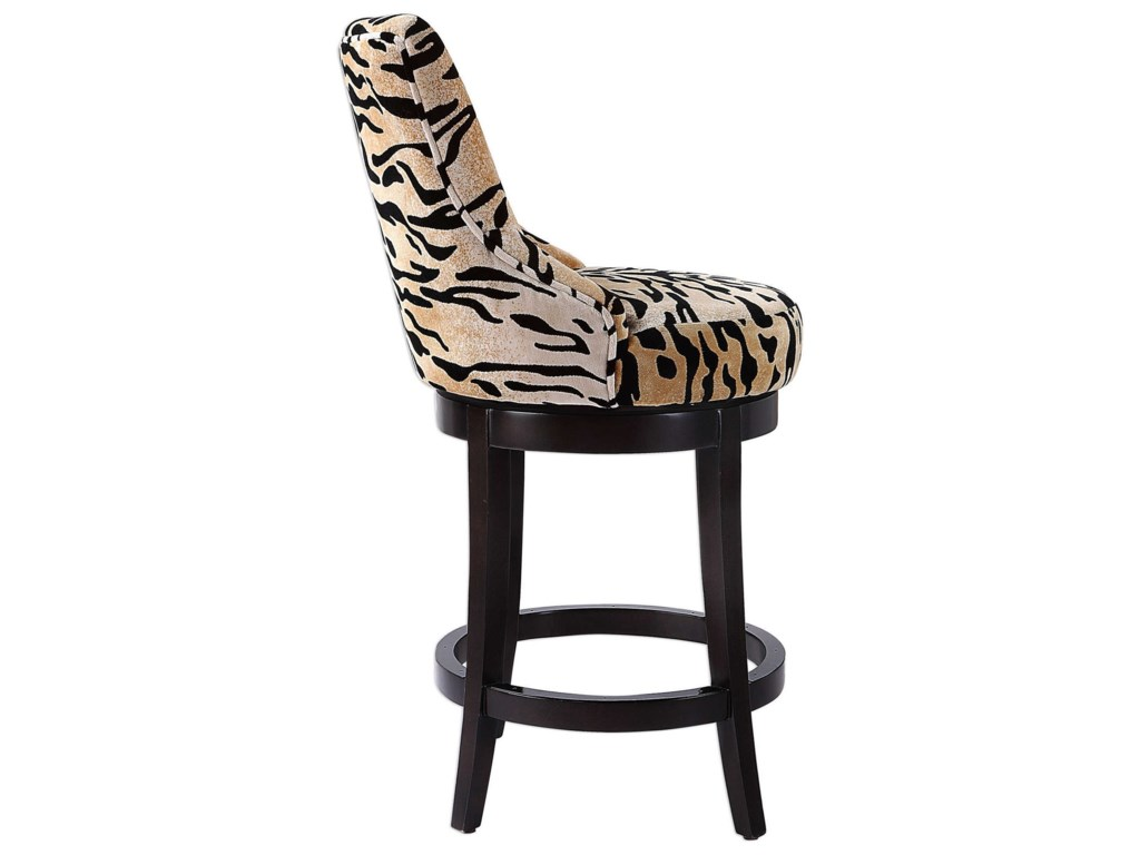 Uttermost Accent Furniture - StoolsCallix Tiger Print Counter Stool