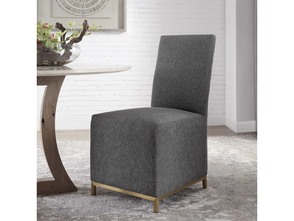 Uttermost Accent FurnitureGerard Armless Charcoal Dining Chair