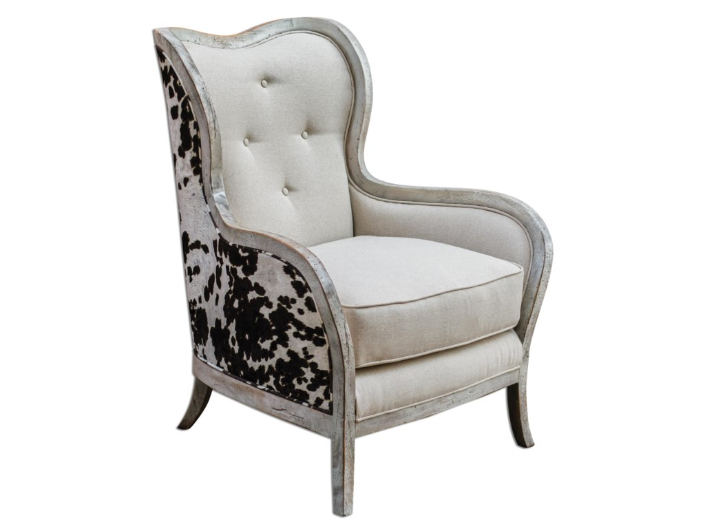 Uttermost Accent FurnitureChalina High Back Arm Chair