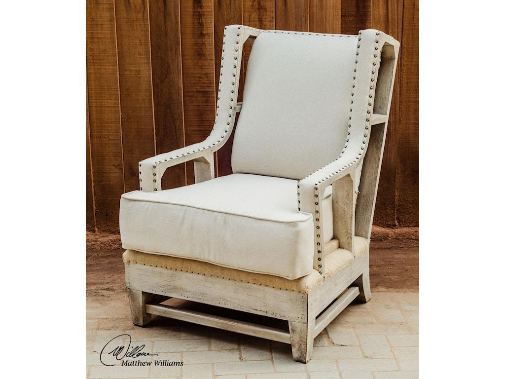 Uttermost Accent FurnitureSchafer Linen Arm Chair