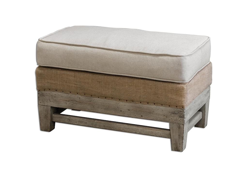 Uttermost Accent FurnitureSchafer Linen Ottoman