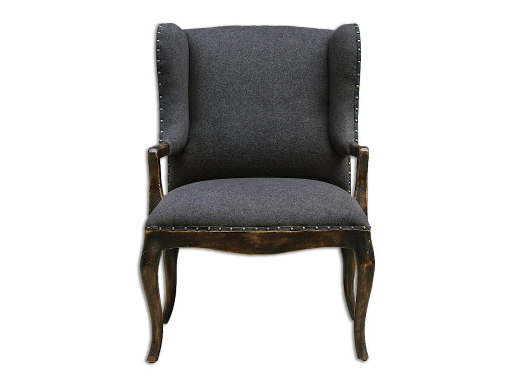 Uttermost Accent FurnitureChione Black Armchair