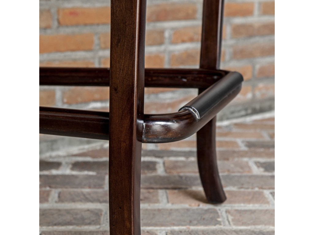 Uttermost Accent Furniture Tilley Mahogany Bar Stool
