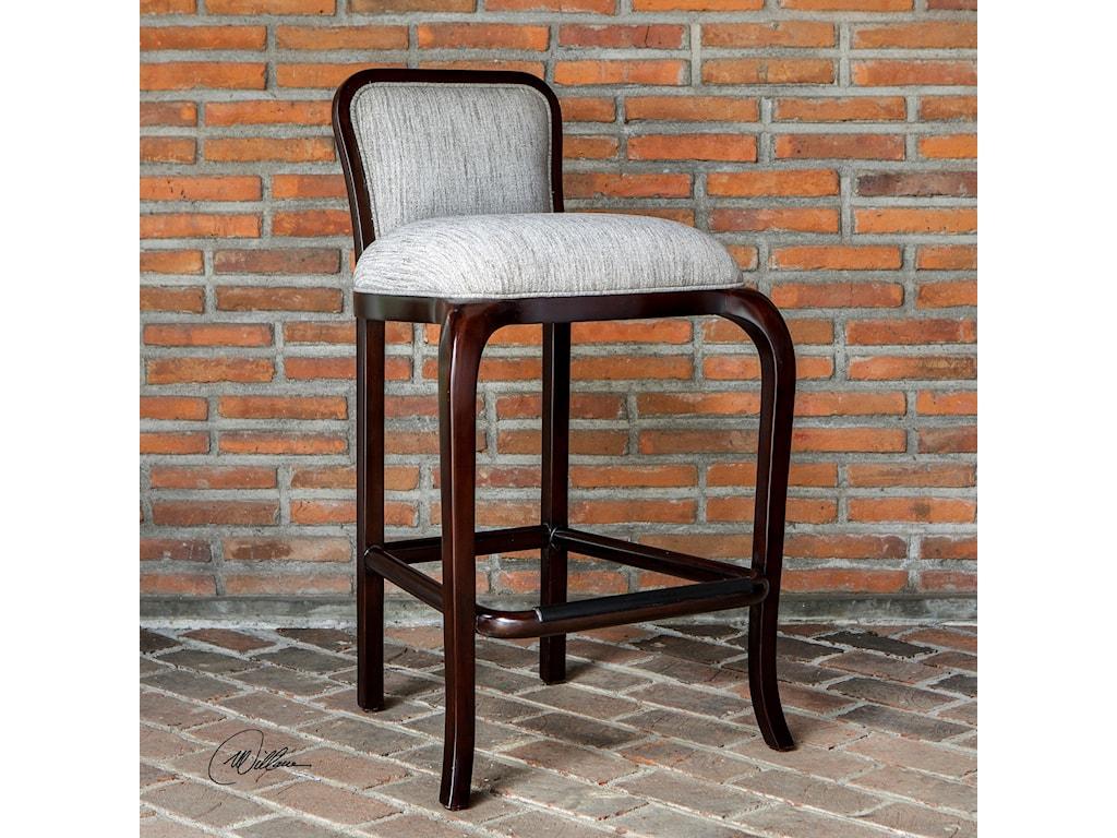 Uttermost Accent Furniture Tilley Mahogany Bar Stool