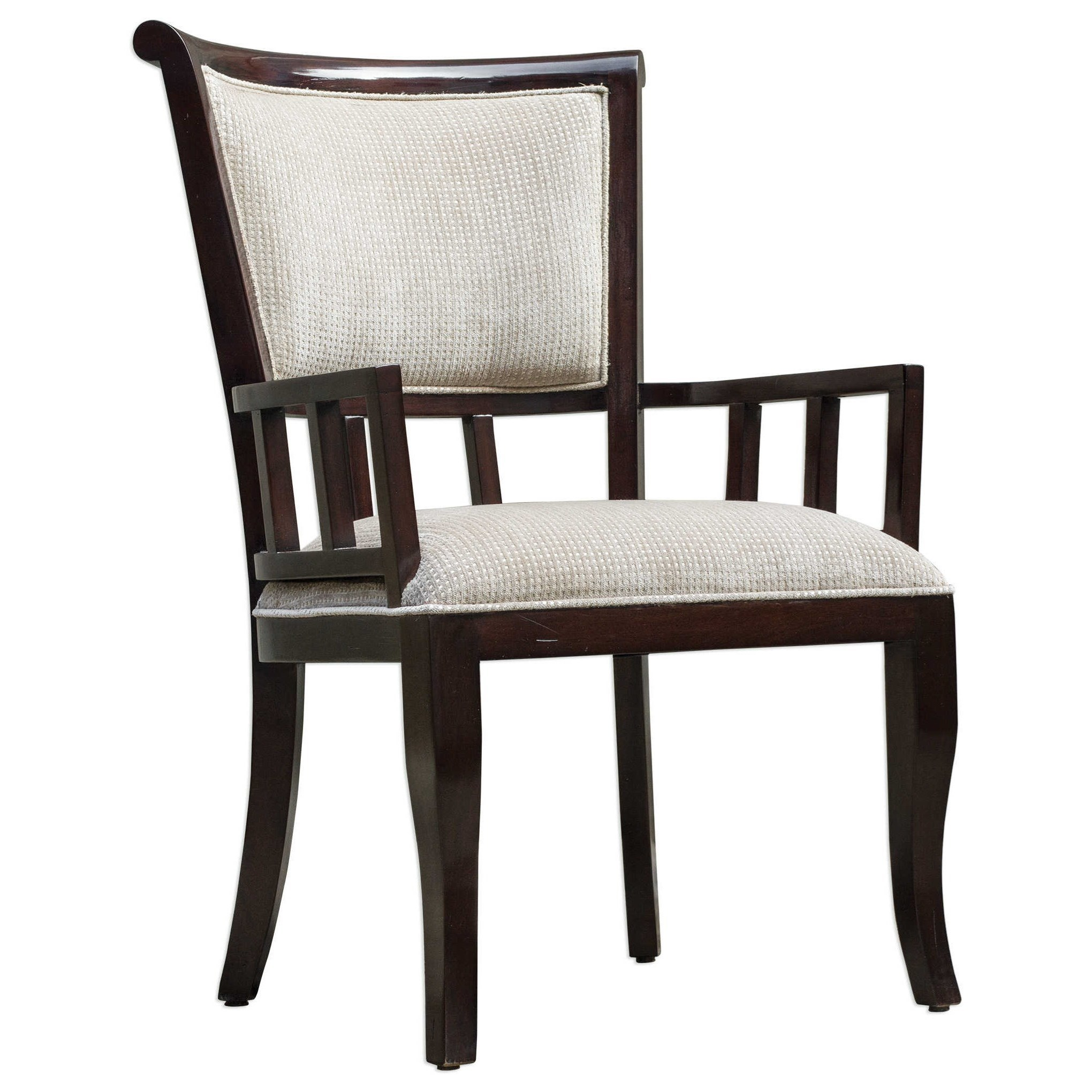 Uttermost Accent FurnitureOrlin Mahogany Accent Chair ...