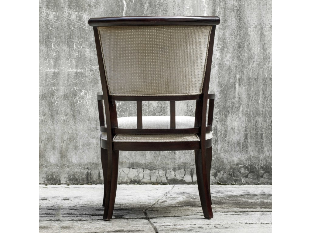 Uttermost Accent FurnitureOrlin Mahogany Accent Chair