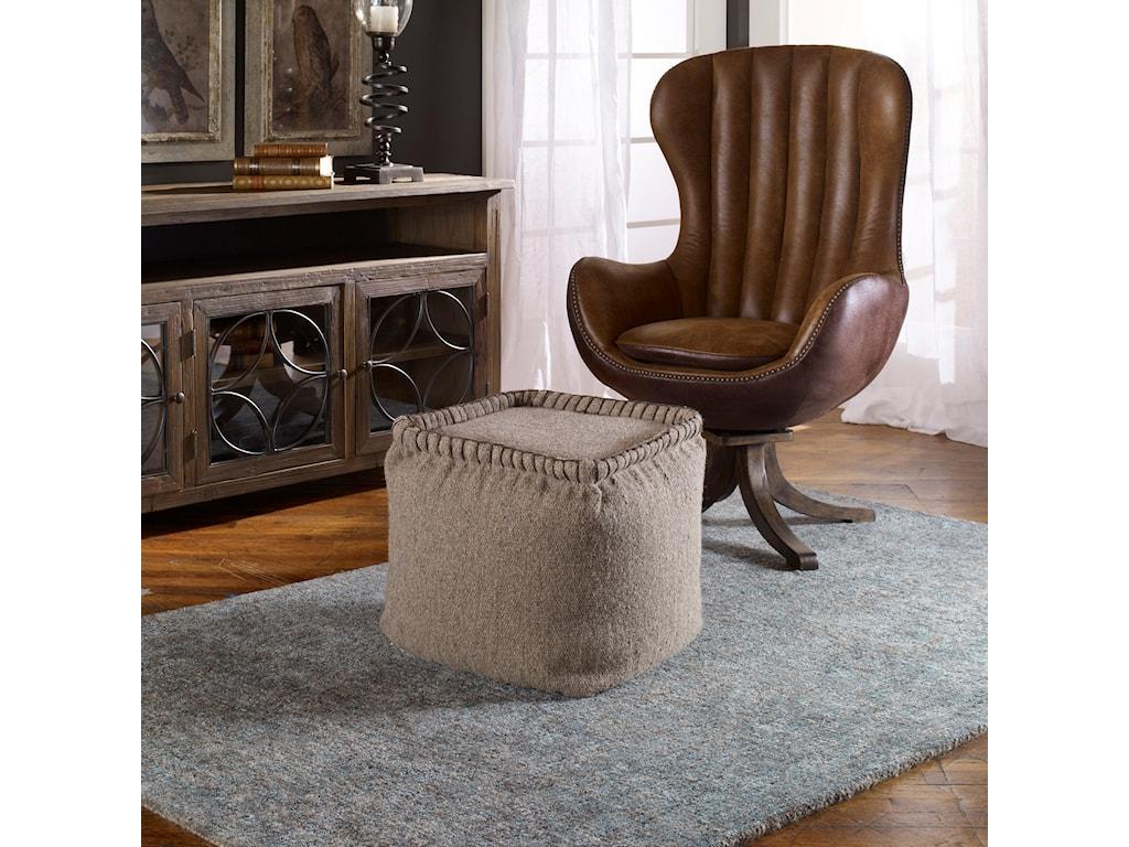 Uttermost Accent Furniture - OttomansAnaya Pouf