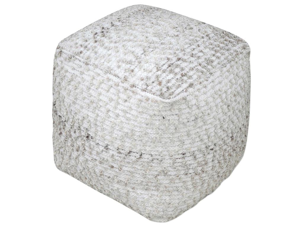 Uttermost Accent FurnitureValda Gray Wool Pouf