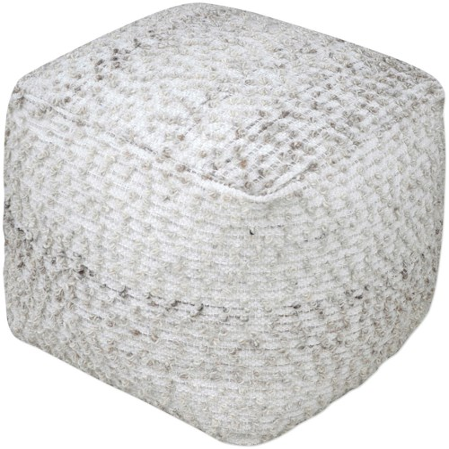 Uttermost Accent Furniture Valda Gray Wool Pouf