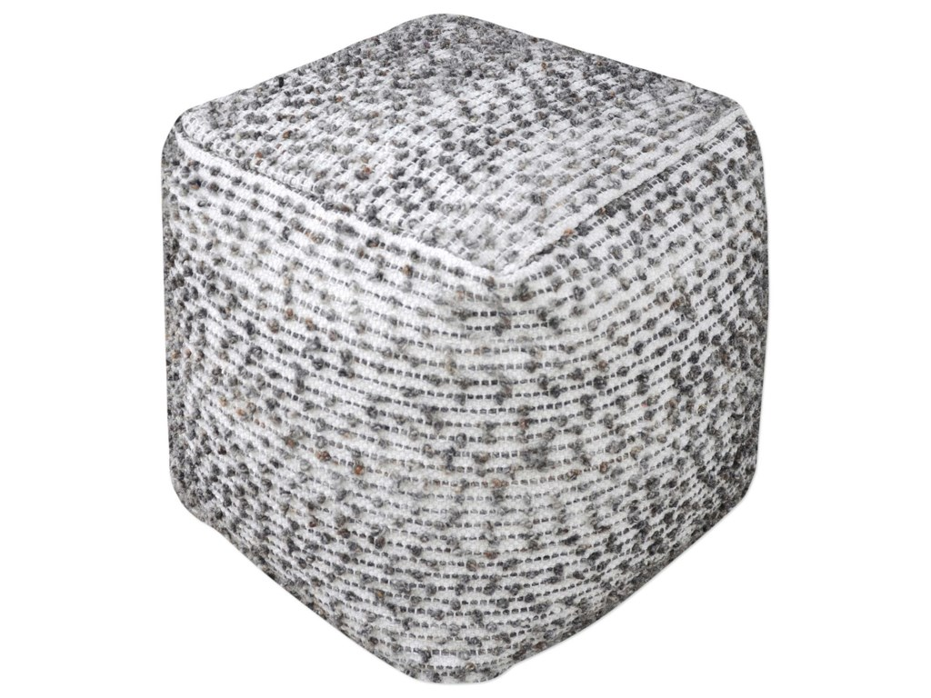 Uttermost Accent Furniture - OttomansValda Linen Wool Pouf