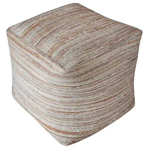 Uttermost Accent Furniture Shiro Beige Pouf
