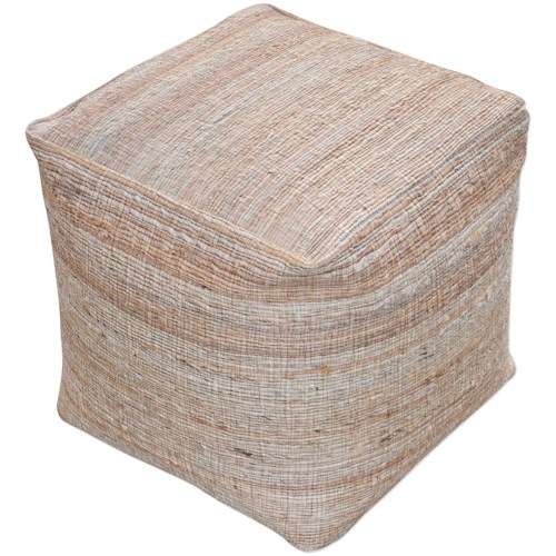 Uttermost Accent Furniture Shiro Ecru Pouf