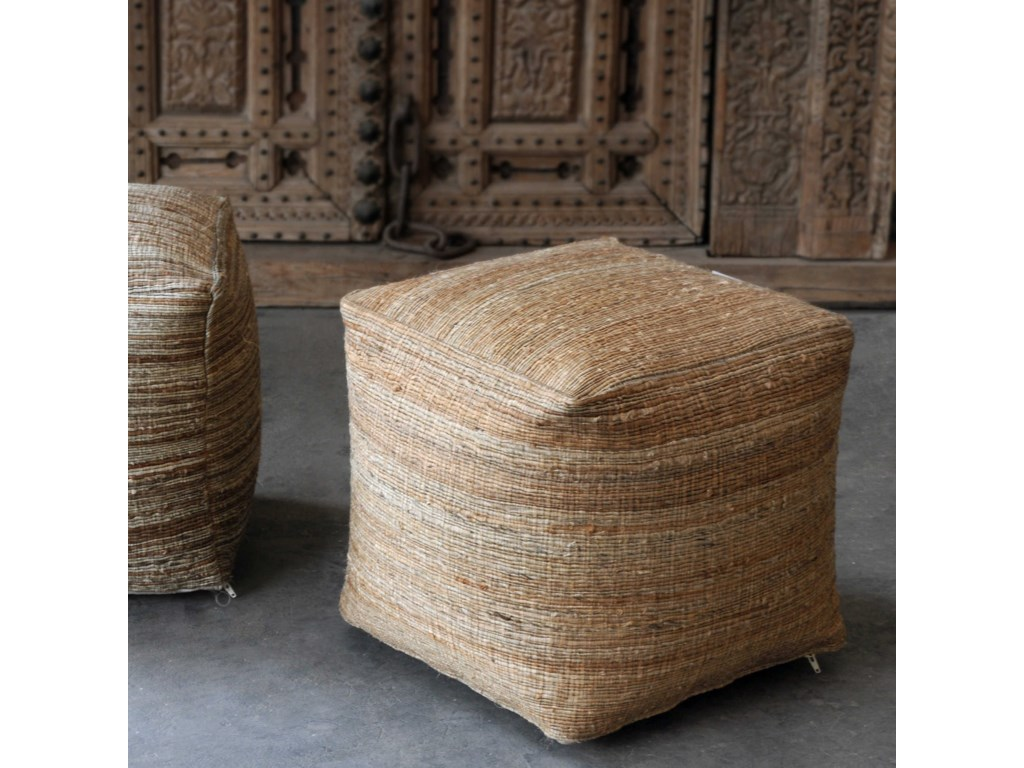 Uttermost Accent FurnitureShiro Ecru Pouf