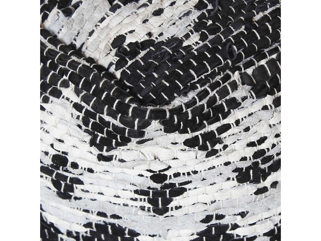 Uttermost Accent FurnitureRewa Ivory/Black Pouf