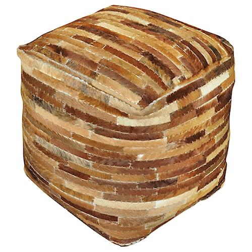 Uttermost Accent Furniture Tiago Medium Brown Pouf