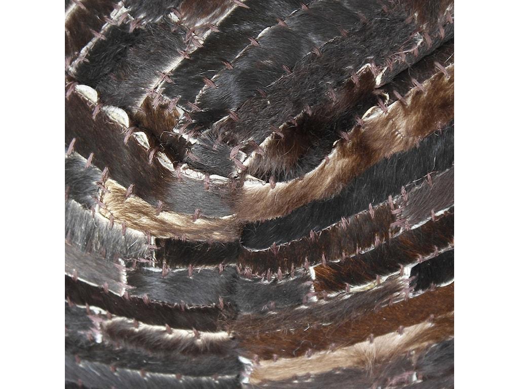 Uttermost Accent FurnitureTiago Dark Brown Pouf