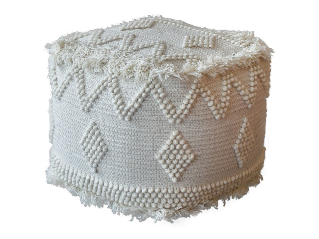 Uttermost Accent Furniture - OttomansUriah Ivory Pouf
