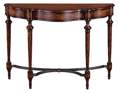 Uttermost Accent Furniture Sascha Decorative Demi-Lune Console Sofa Table