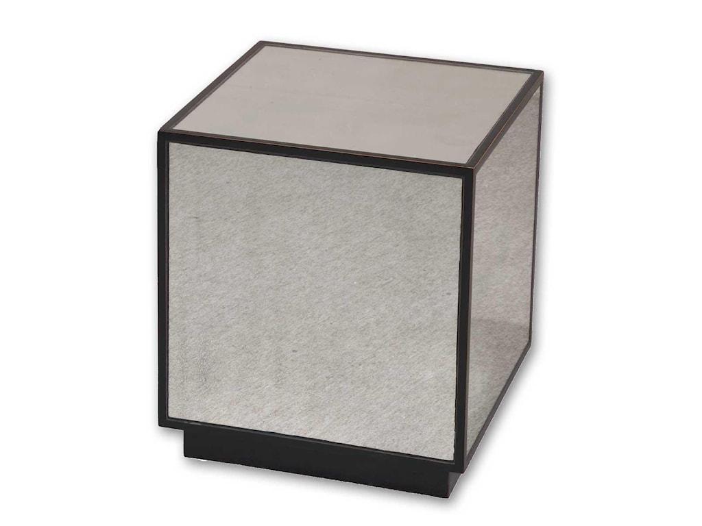 Uttermost Accent FurnitureMatty Mirrored Cube