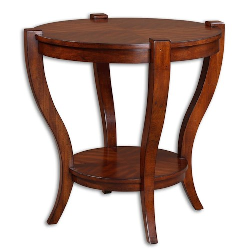 Uttermost Accent Furniture Bergman Round Mission Style End Table