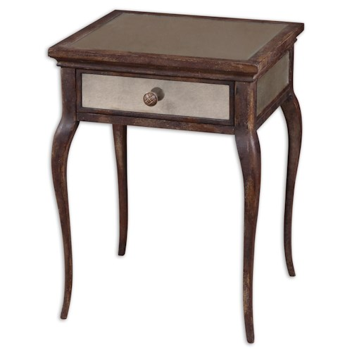 Uttermost Accent Furniture St. Owen End Table with Cabriole Legs