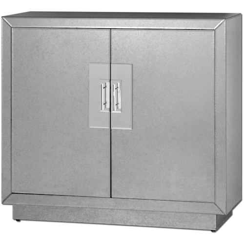 Uttermost Accent Furniture Andover Mirrored Cabinet