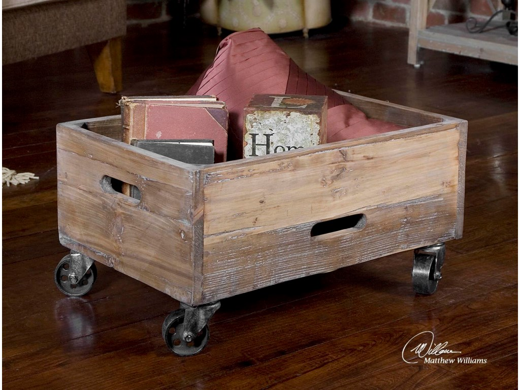 Uttermost Accent FurnitureStratford Rolling Box