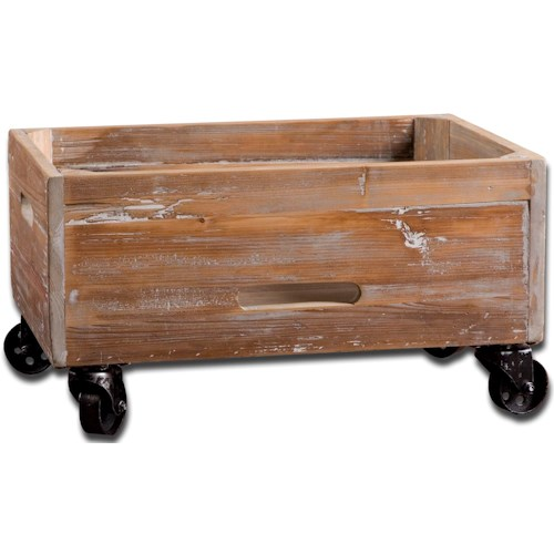 Uttermost Accent Furniture Stratford Rolling Box