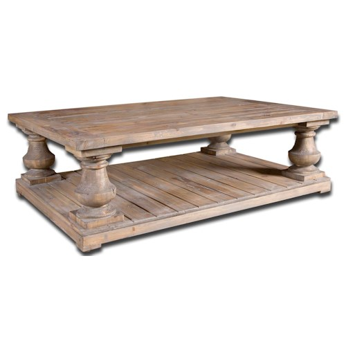 Uttermost Accent Furniture Stratford Rustic Un-Finished Cocktail Table