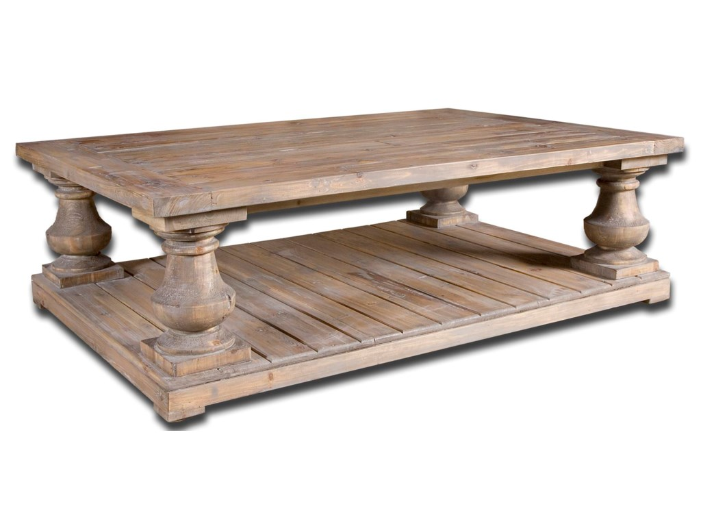 Uttermost Accent Furniture Stratford Rustic UnFinished - Uttermost driftwood cocktail table