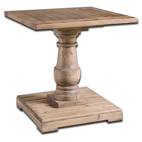 Uttermost Accent Furniture Stratford Pedestal End Table
