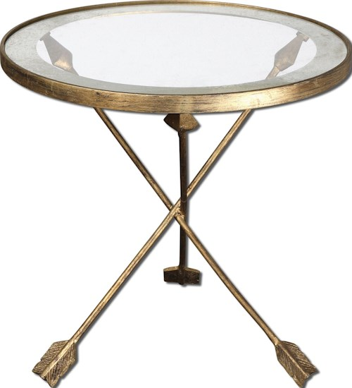 Uttermost Accent Furniture Aero Accent Table with Feathered Arrow Legs